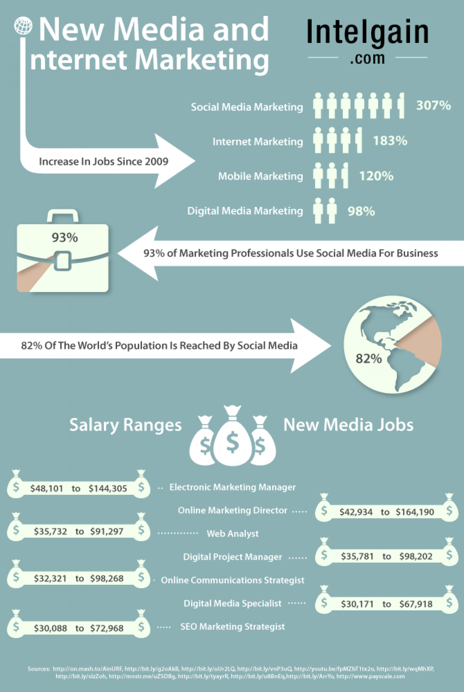 New Media And Internet Marketing Infographic