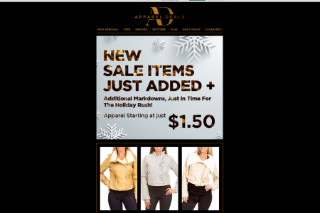New Sale Items Just Added... Apparel Starting At Just $1.50! Infographic