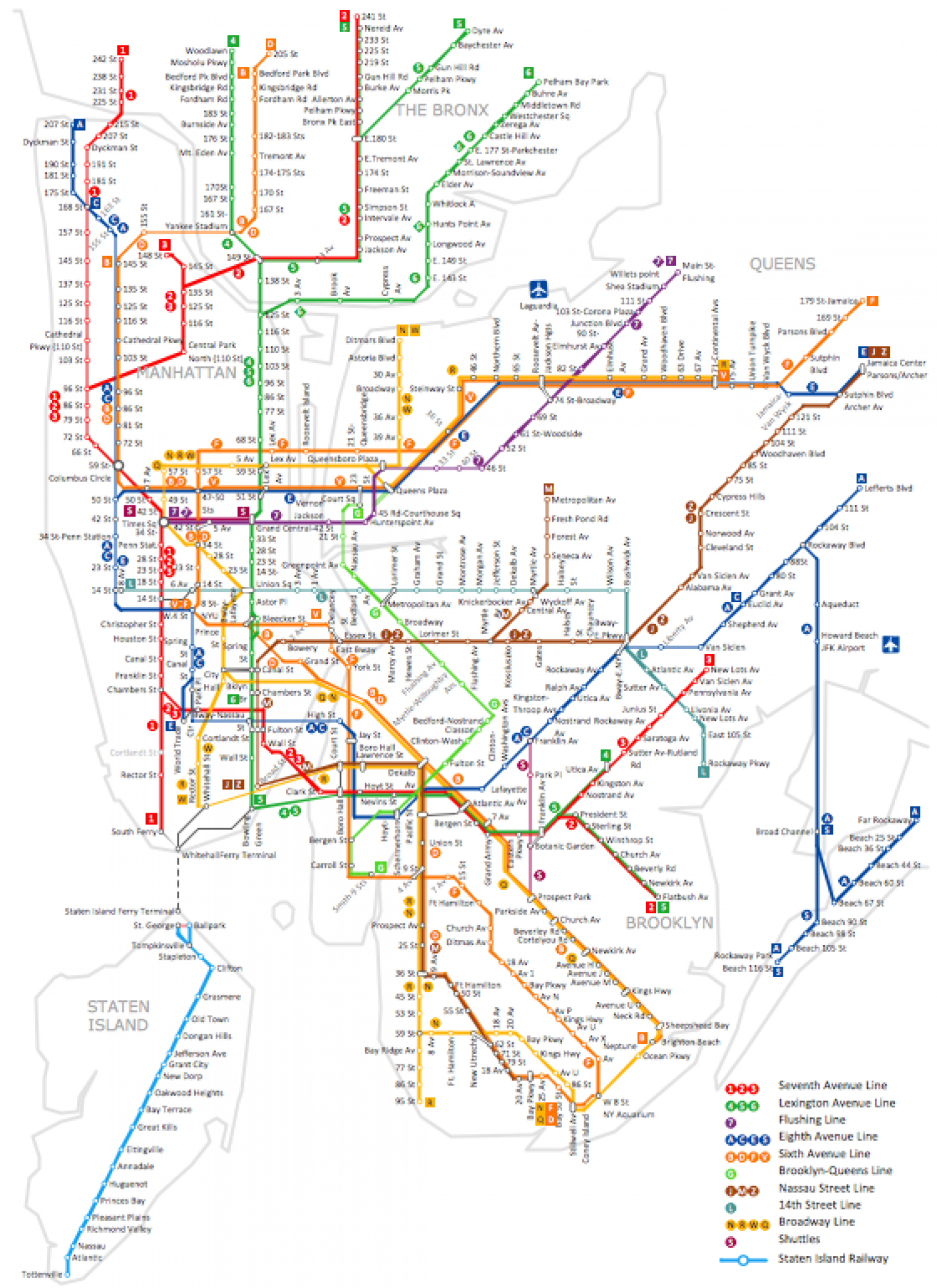 New York City Map Infographic