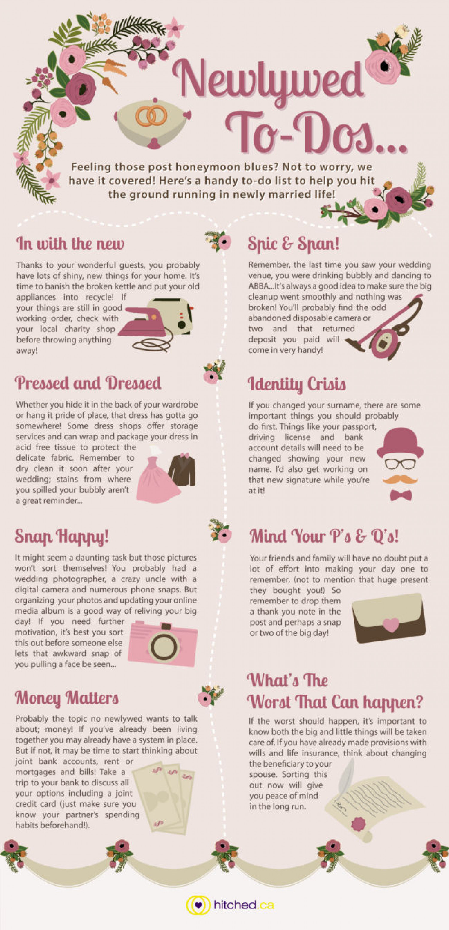 Newly-Wed To Do List Infographic