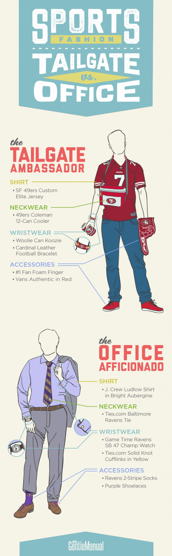 NFL SPORTS APPAREL FASHION: TAILGATE VS. OFFICE