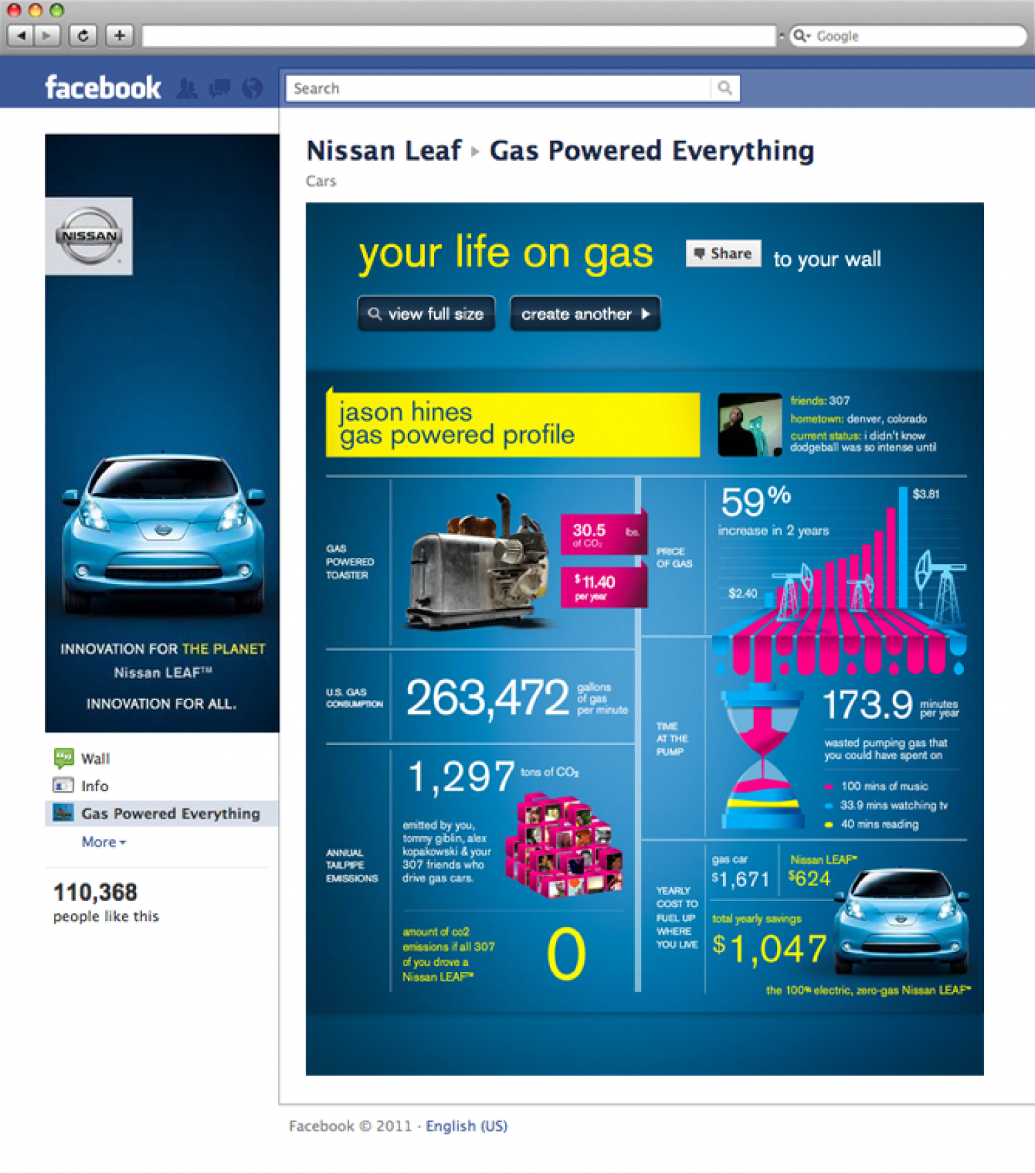 Nissan LEAF - Gas Powered Everything Infographic
