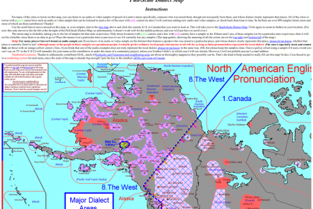 North American Dialect Map Infographic