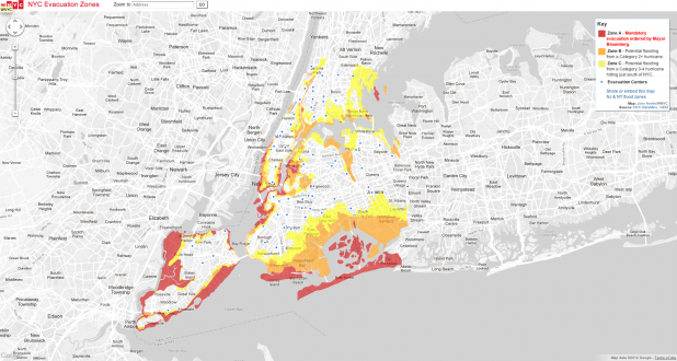 NYC Sandy Evacuation Zones