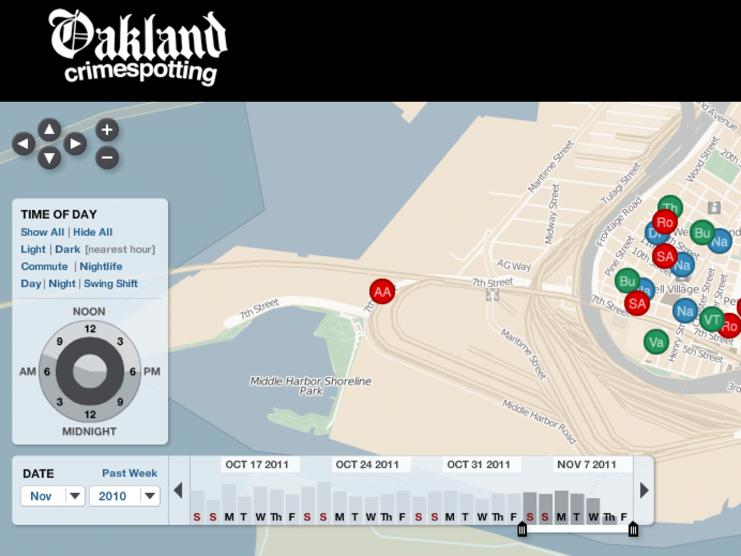 Oakland Crimespotting Infographic