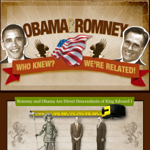Obama & Romney Who Knew? We're Related! Infographic