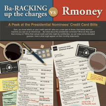 Obama vs. Romney Black Card Bills Infographic