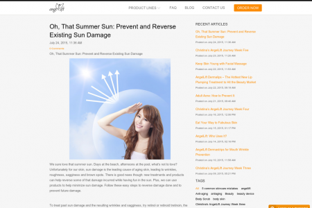 Oh, That Summer Sun: How to Reverse and Prevent Sun Damage Infographic