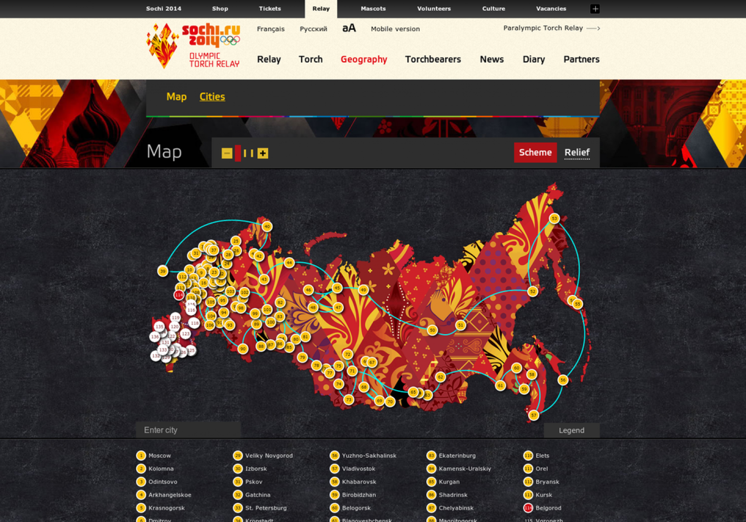 Olympic Torch Relay Map Infographic