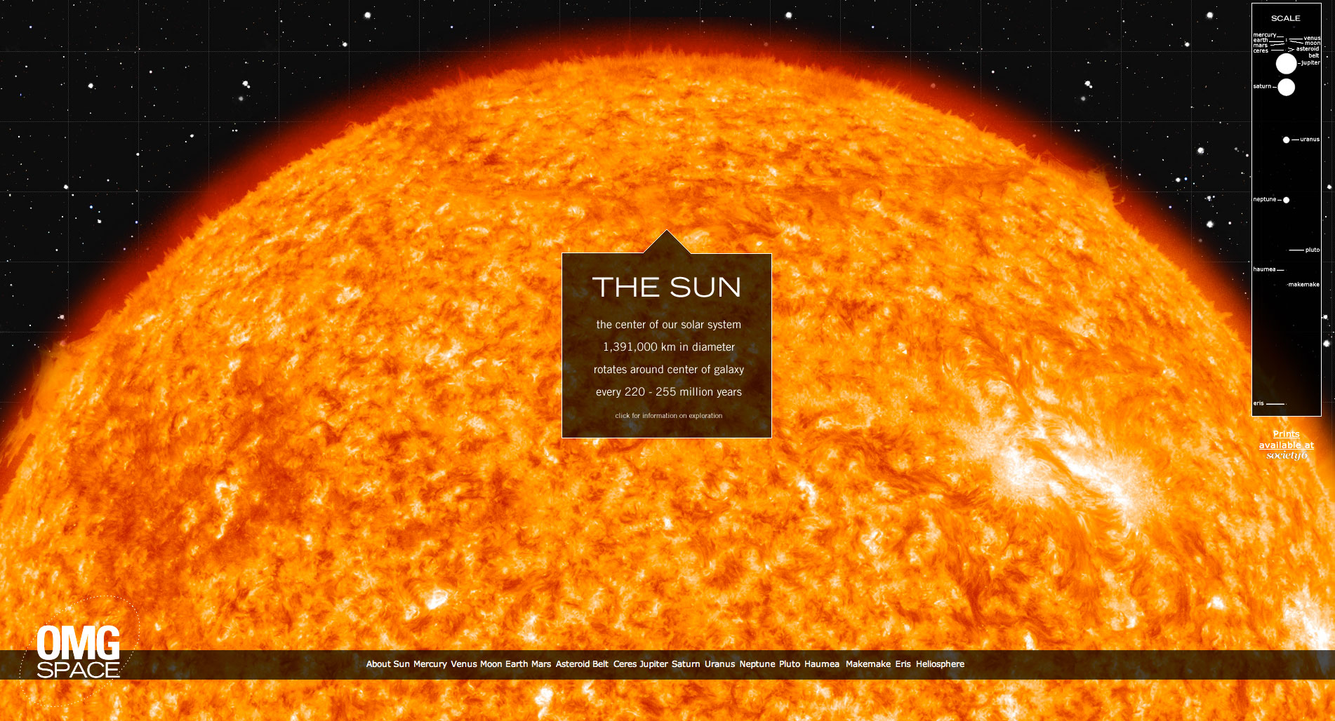 infographics solar system to scale - photo #15