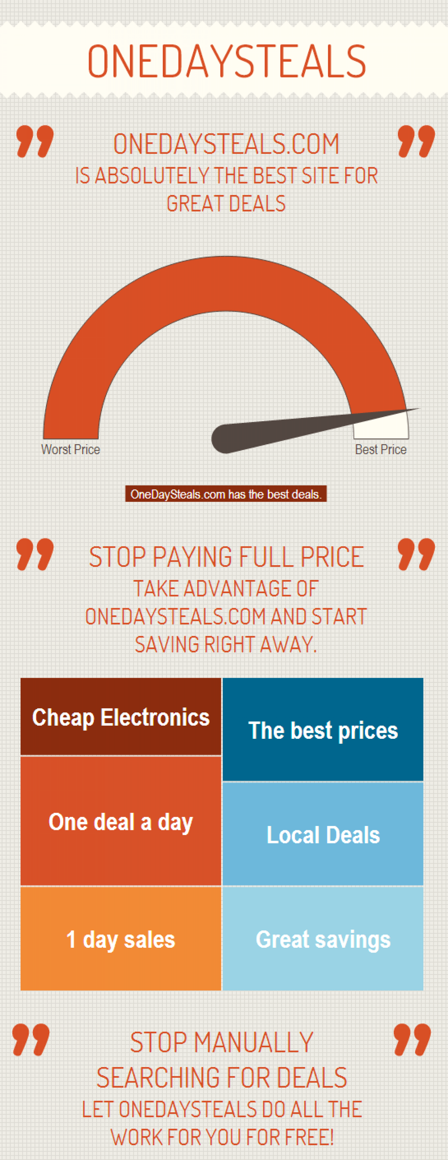 One day deals and discounts for crazy shoppers Infographic