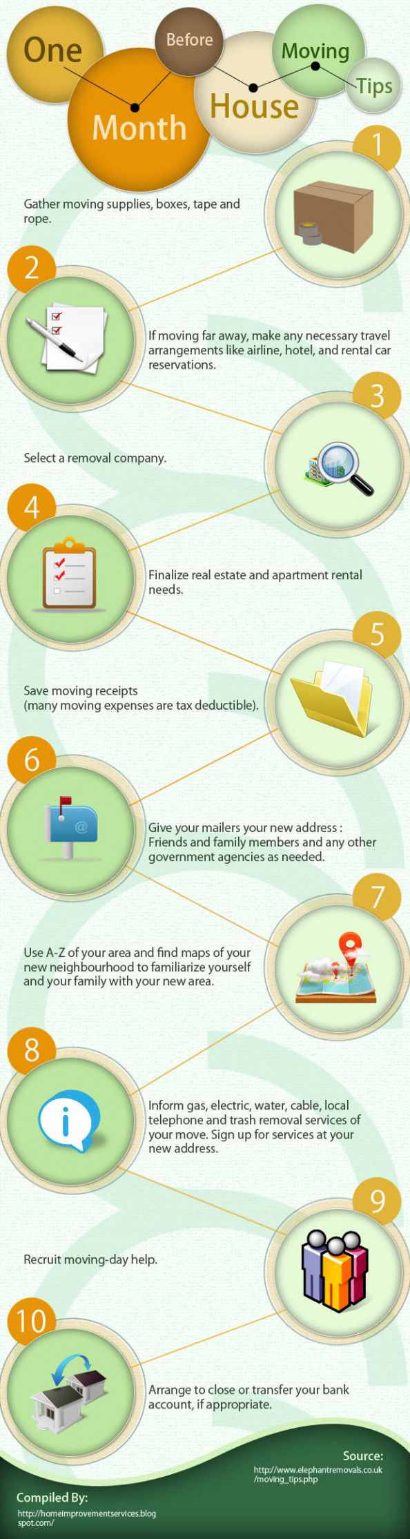 One Month Before House Moving Tips [Infographic]  Infographic