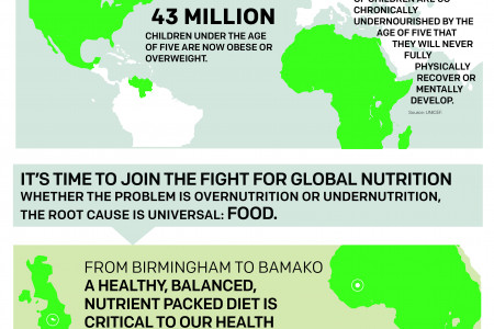 ONE: The Fight Against Malnutrition Infographic