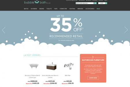Online Bathroom Store - Bubble Bath Infographic