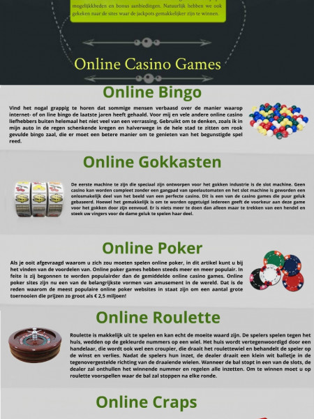 Online Casino Games Infographic