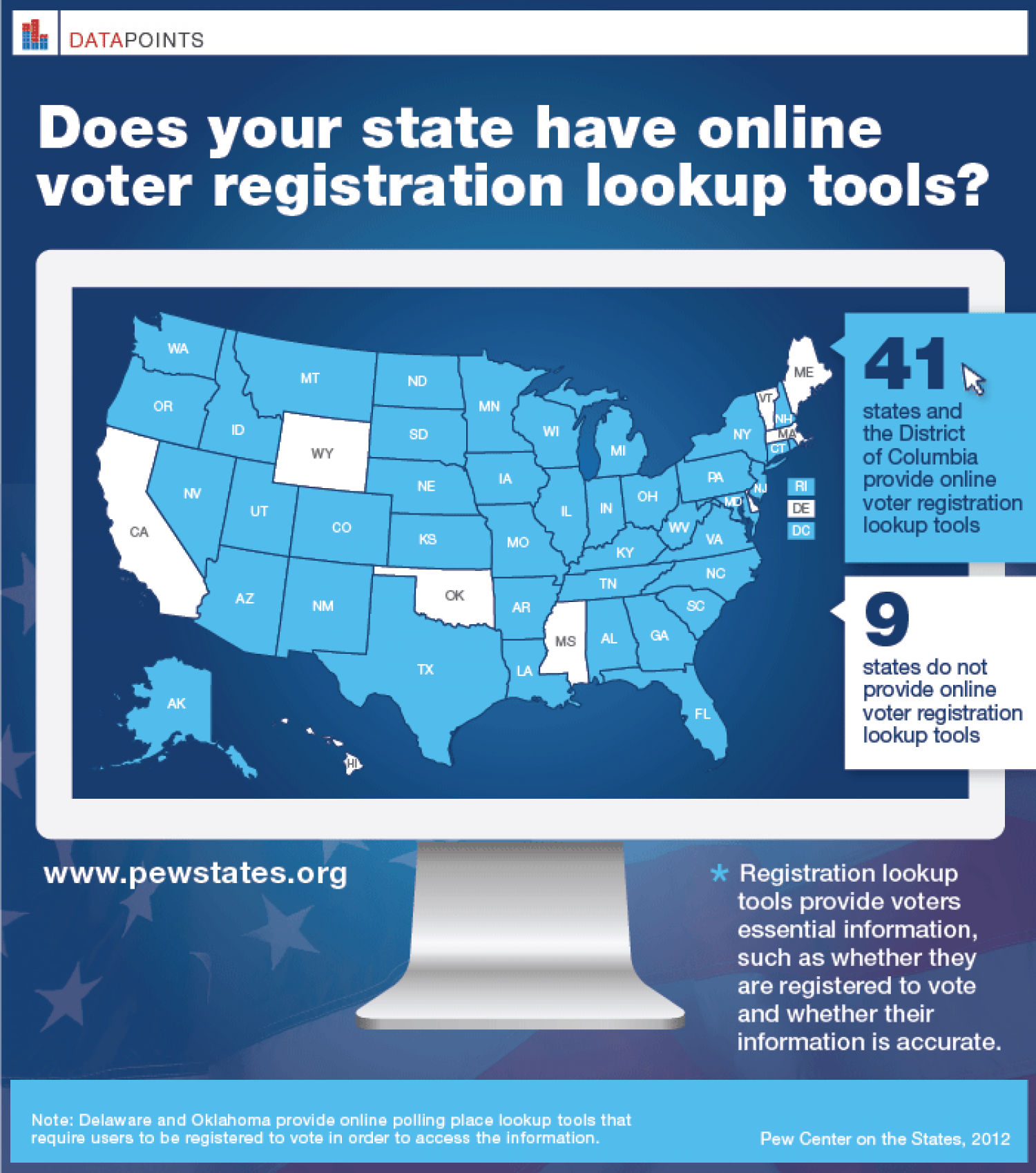 Online Voter Registration Infographic