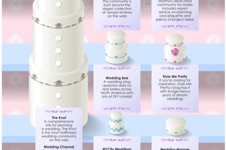 Online Wedding Sites Infographic
