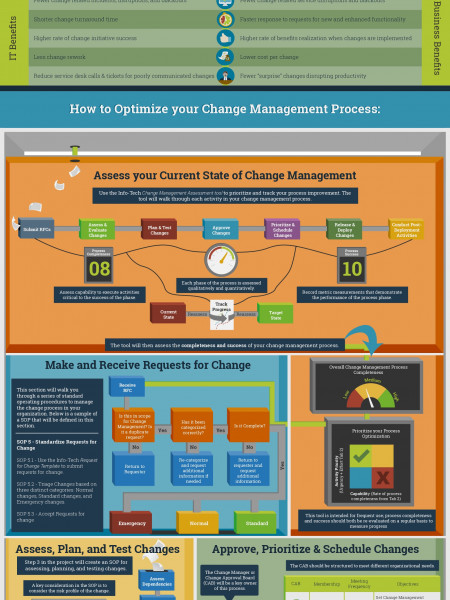 Optimize Your Change Management Process Infographic