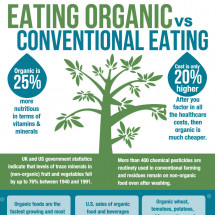 Organic vs Conventional Eating Infographic