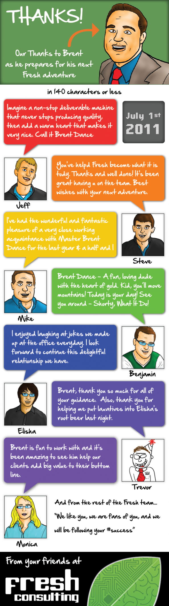 Our tribute to Brent as he embarks on his next Fresh adventure Infographic