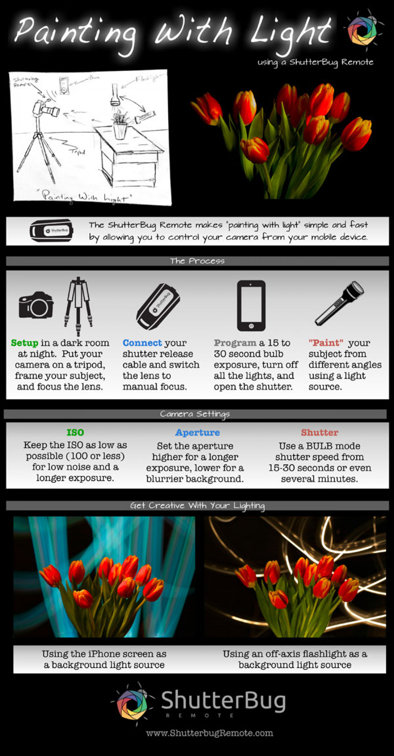 Painting With Light Tutorial Infographic