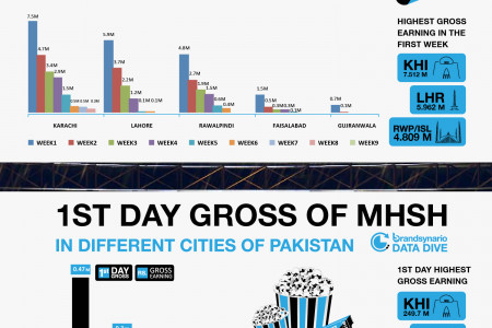 Pakistani Movie 'Main Ho Shahid Afridi' Box Office Collection Infographic