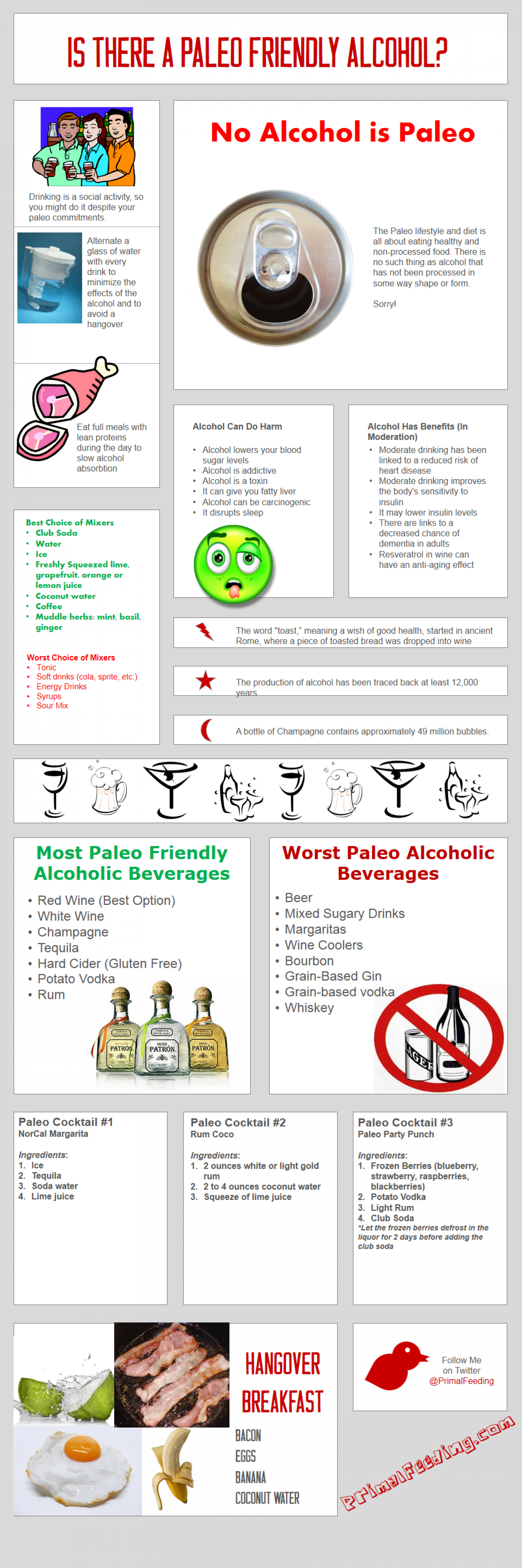 Is There A Paelo Freindly Alcohol? Infographic