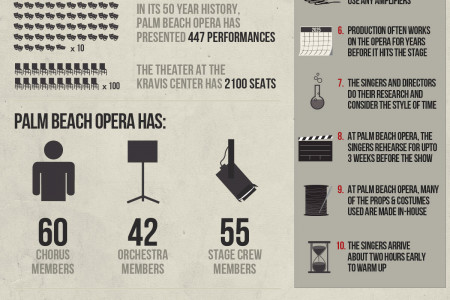 Palm Beach Opera 50th Anniversary Season Infographic