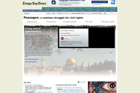 Passages: a common struggle for civil rights Infographic