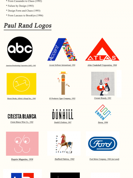 Paul Rand Logo Design Legend - IBM Logo Design Infographic