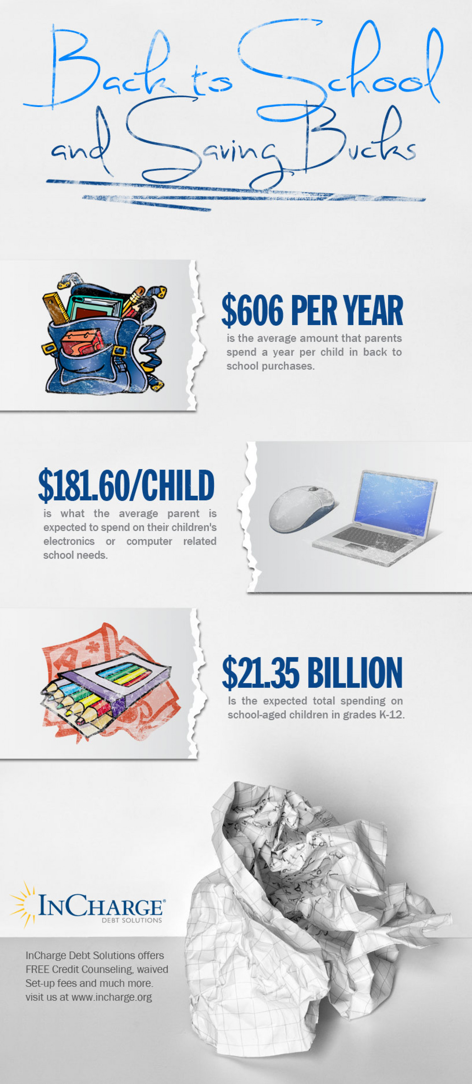 Personal Finance - Spending on School-Aged Children Infographic