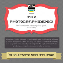 Photographidemic: It's a Visual Takeover! Infographic