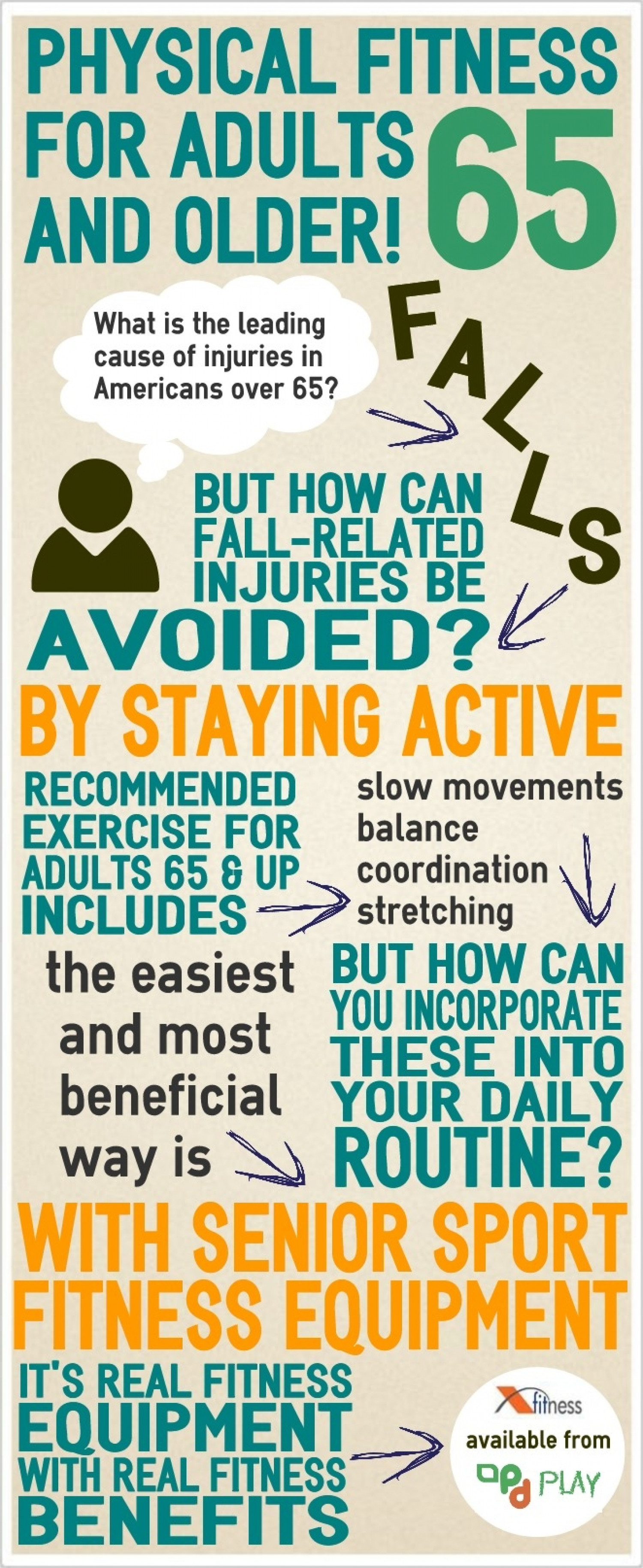 Physical Fitness for Adults 65 and Older Infographic