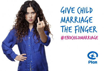 Plan UK: Give Child Marriage the Finger Infographic