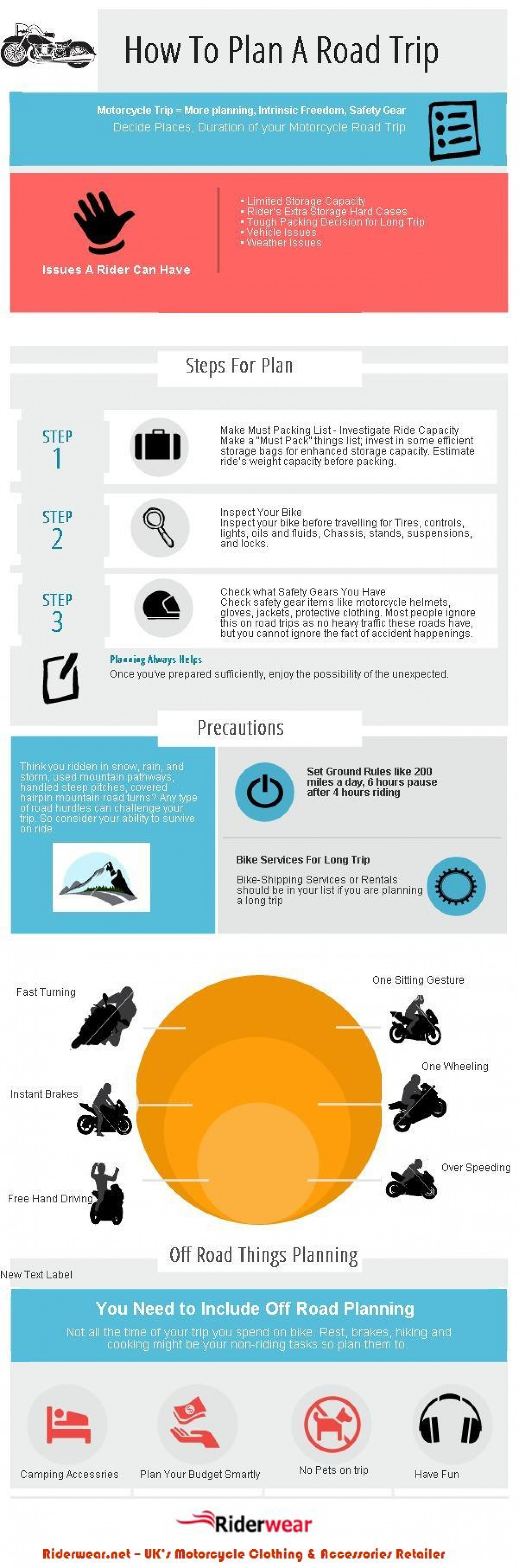 Planning A Motorcycle Trip? Infographic