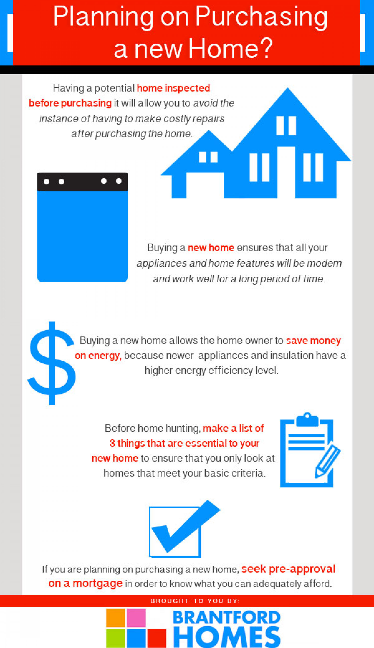 Planning on Purchasing a New Home Infographic