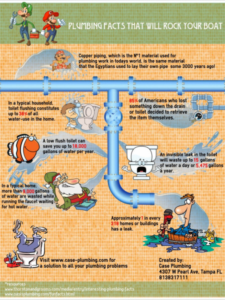 Plumbing Facts That Will Rock Your Boat Infographic