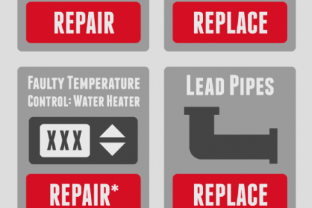 Plumbing Problems? Repair vs. Replacement  Infographic