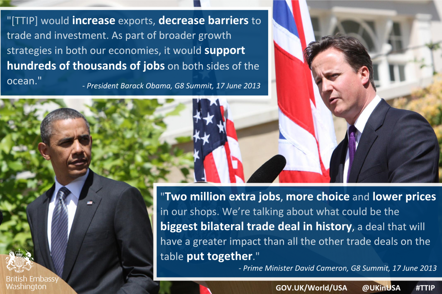 PM Cameron and President Obama on TTIP Infographic