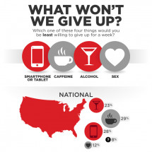 Poll: Americans Choose Smartphones Over Sex Infographic