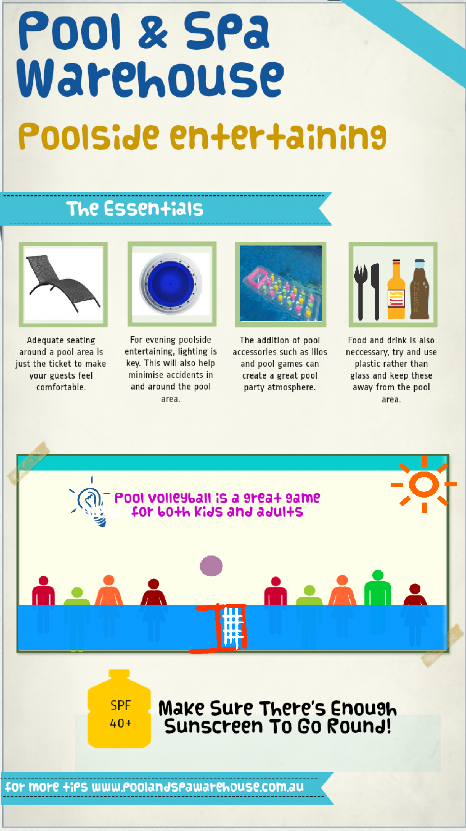 Poolside entertaining tips Infographic