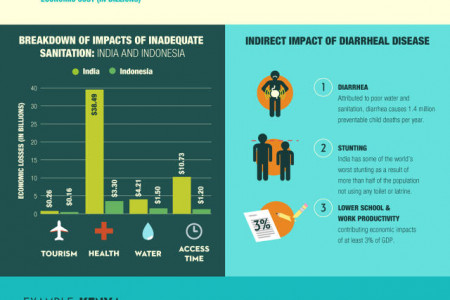 Poor Sanitation Costs The World: $260 Billion A Year Infographic