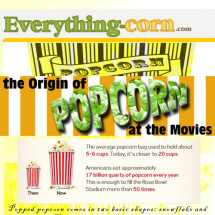 Popcorn at the movies Infographic
