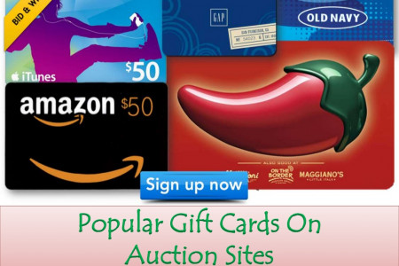 Popular Gift Cards On Auction Sites Infographic