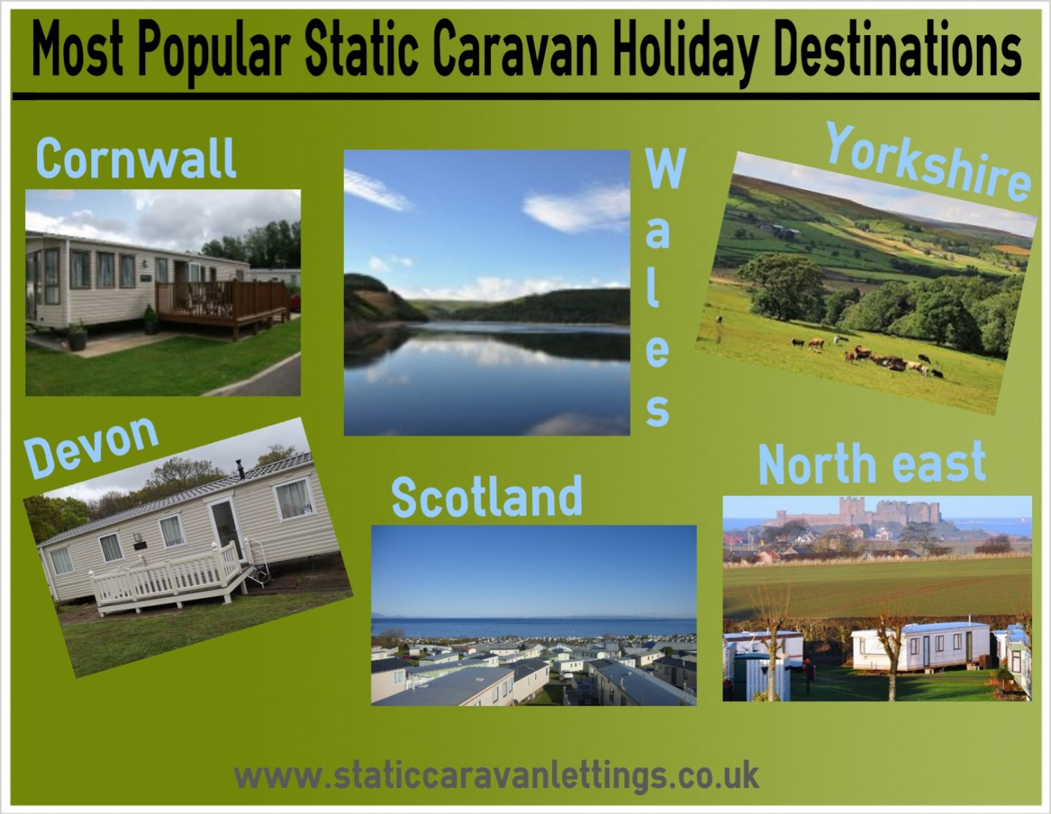 Popular Static Caravan Holiday Destinations Infographic