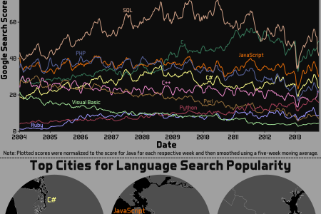 Popularity of Programming Languages Infographic