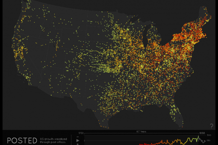 Posted: US Growth Visualized Through Post Offices Infographic