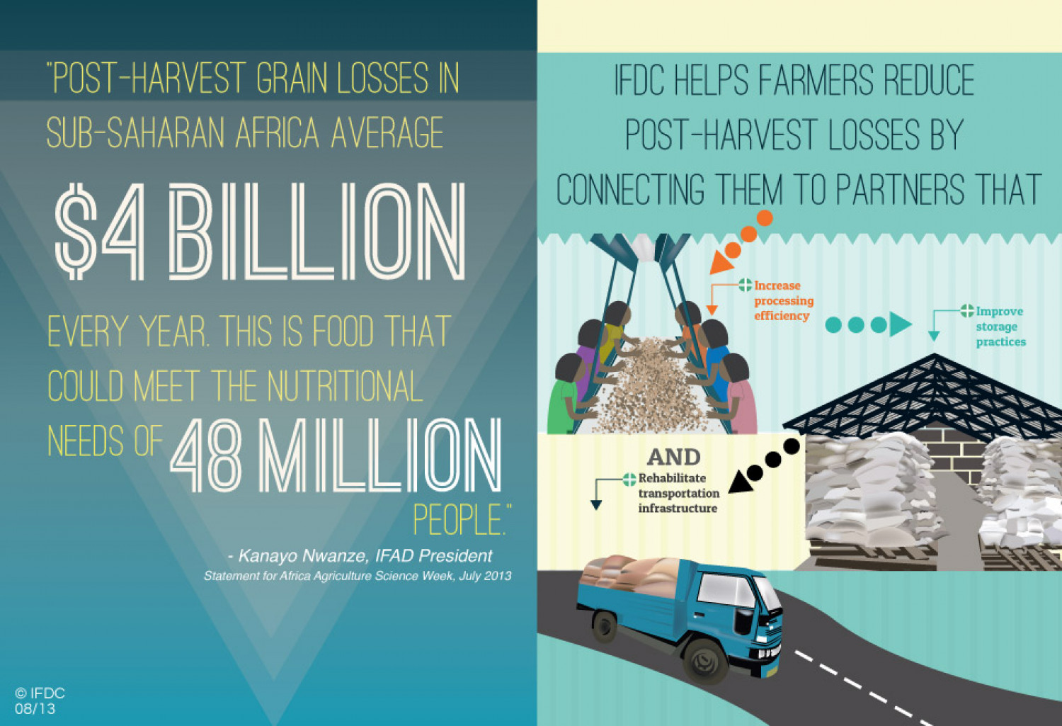 Post-Harvest Grain Losses in Sub-Saharan Africa Infographic