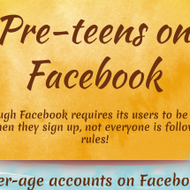 Pre-teens on Facebook Infographic