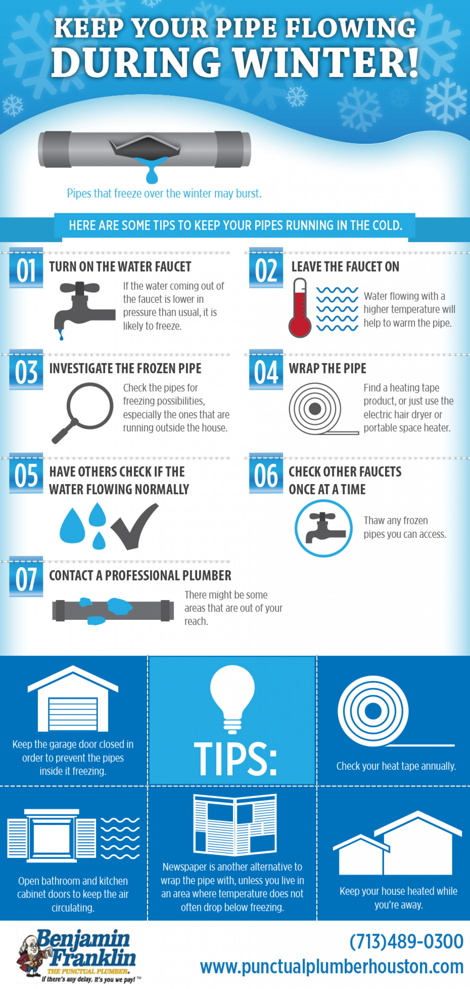 Keep Your Pipe Flowing During Winter! Infographic